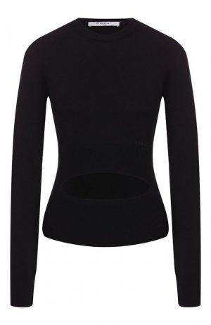 Шерстяной пуловер Givenchy. Цвет: черный