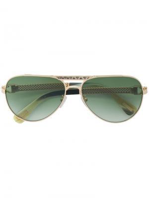 Солнцезащитные очки-авиаторы Lanvin. Цвет: золотистый
