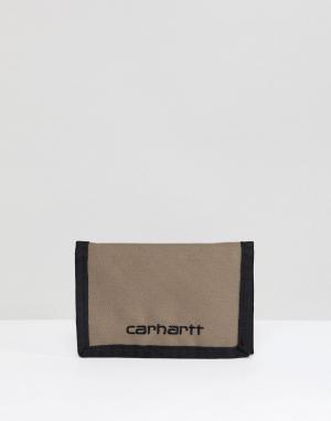 Светло-бежевый бумажник Payton Carhartt WIP. Цвет: светло-бежевый