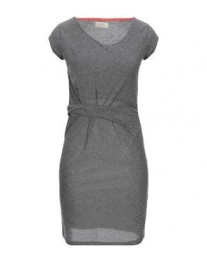 Короткое платье NÜMPH. Цвет: свинцово-серый