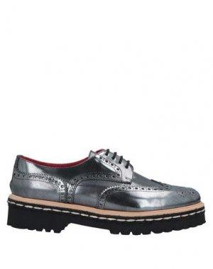 Обувь на шнурках LOLO. Цвет: свинцово-серый