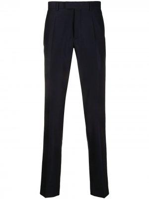 Строгие брюки прямого кроя Sandro Paris. Цвет: синий