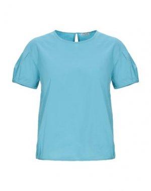 Блузка CAPPELLINI by PESERICO. Цвет: небесно-голубой