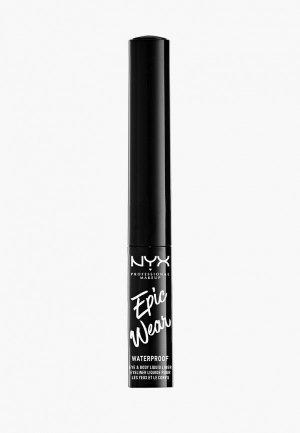 Подводка для глаз Nyx Professional Makeup металлический EPIC WEAR METALLIC LIQUID LINER, оттенок 05, TEAL METAL, 3,5 мл. Цвет: голубой