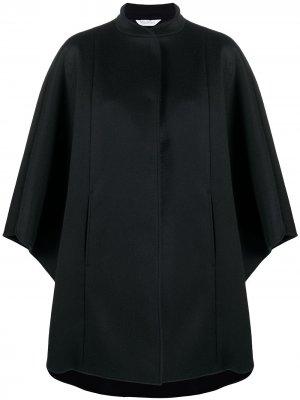 Пальто-кейп с воротником-хомутом Max Mara. Цвет: черный