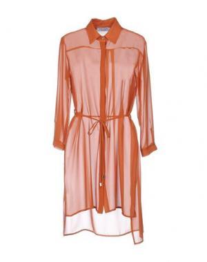Короткое платье EDAS. Цвет: ржаво-коричневый