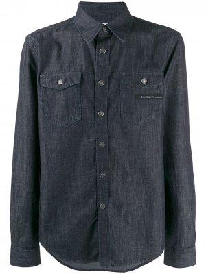 Джинсовая рубашка с нашивкой-логотипом Givenchy. Цвет: синий