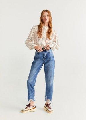 Нарочно рваные джинсы relax - Brokens Mango. Цвет: синий средний