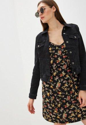 Куртка джинсовая Mango - VICKY. Цвет: черный