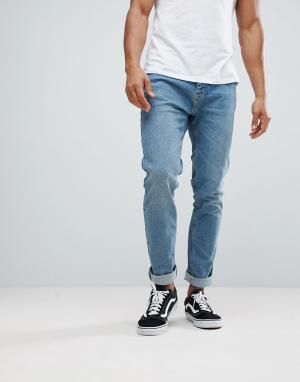 Выбеленные узкие джинсы Bershka. Цвет: зеленый