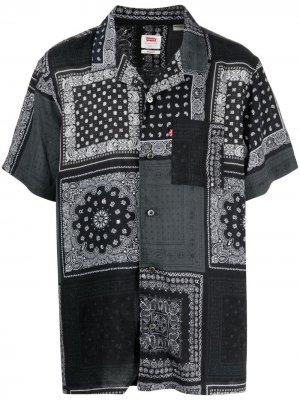 Levis рубашка в технике пэчворк Levi's. Цвет: черный