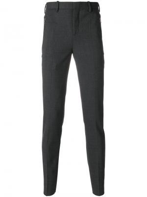 Классические брюки кроя слим Neil Barrett. Цвет: серый