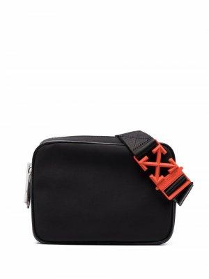 Поясная сумка с логотипом Off-White. Цвет: черный