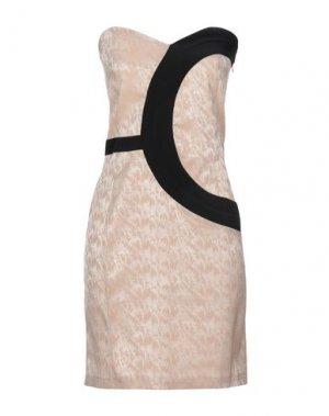 Короткое платье H2O ITALIA. Цвет: бежевый