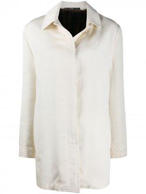 Пальто 1990-х годов с потайной застежкой Gianfranco Ferré Pre-Owned. Цвет: нейтральные цвета