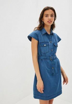 Платье джинсовое Almatrichi. Цвет: синий