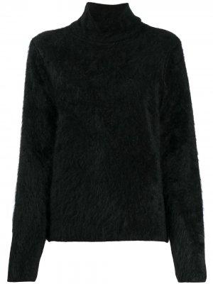 Кашемировый джемпер с высоким воротником Comme Des Garçons Noir Kei Ninomiya. Цвет: черный