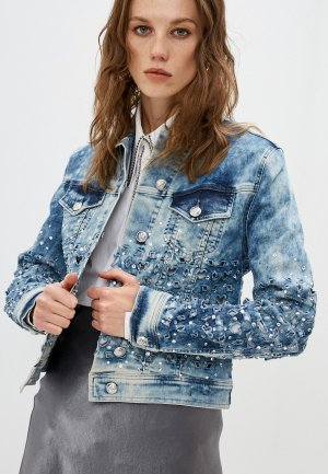 Куртка джинсовая Philipp Plein. Цвет: синий