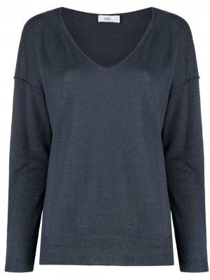 Fine knit linen-blend top Closed. Цвет: зеленый