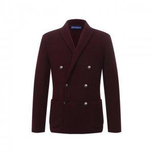 Шерстяной пиджак Andrea Campagna. Цвет: бордовый