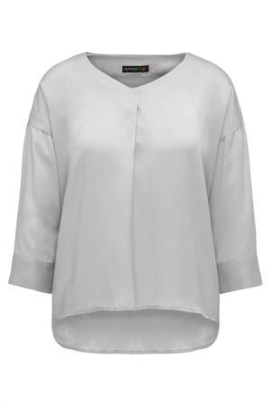 Блузка Apart. Цвет: серебристый, серый