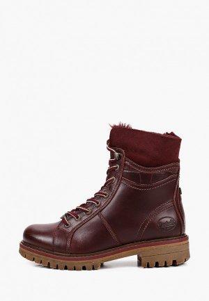 Ботинки Dockers by Gerli. Цвет: бордовый