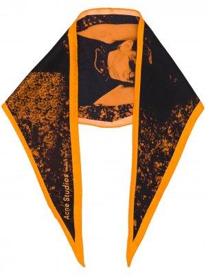 Бандана с принтом Acne Studios. Цвет: оранжевый