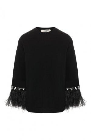 Кашемировый пуловер Valentino. Цвет: черный