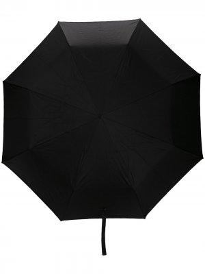 Зонт с ручкой в виде черепа Alexander McQueen. Цвет: черный