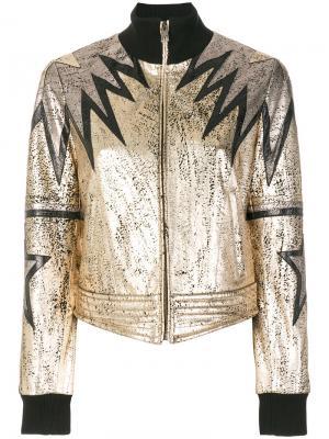 Куртка-бомбер металлик Just Cavalli. Цвет: металлический