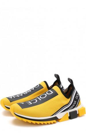 Текстильные кроссовки Sorrento Dolce & Gabbana. Цвет: жёлтый