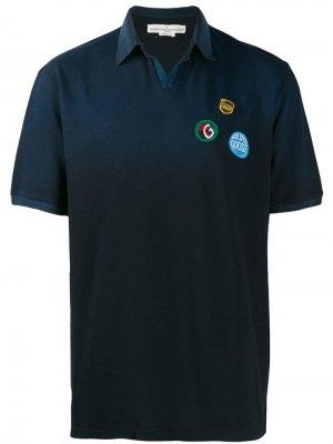 Рубашка-поло с нашивкой-логотипом Golden Goose. Цвет: синий