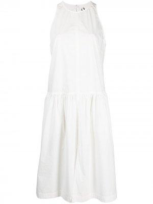 Платье без рукавов со сборками 8pm. Цвет: белый