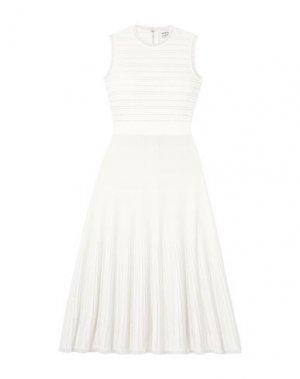Платье миди HERVÉ LÉGER. Цвет: белый