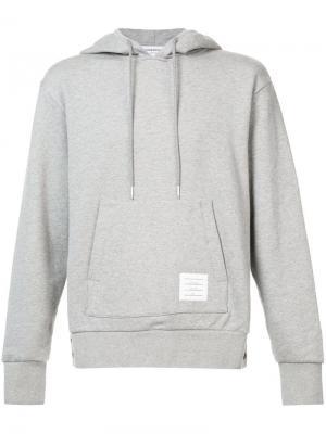 Пуловер с капюшоном и полосками Thom Browne