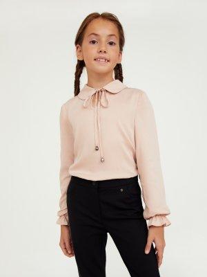 Блузка для девочки Finn-Flare. Цвет: миндальный