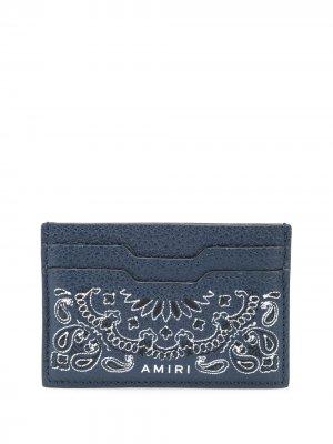 Картхолдер с принтом AMIRI. Цвет: синий