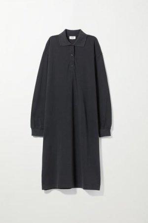 Длинное платье Margo Weekday. Цвет: черный