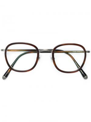 Round-frame glasses Matsuda. Цвет: коричневый