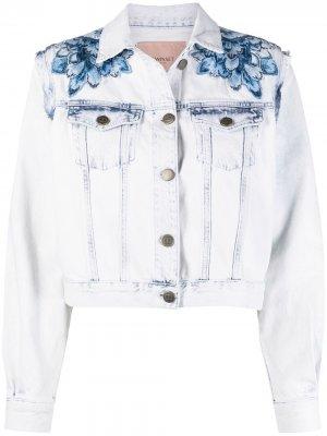 Джинсовая куртка на пуговицах TWINSET. Цвет: синий