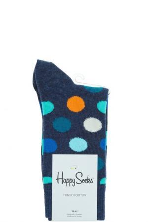 Носки HAPPY SOCKS. Цвет: горошек, синий