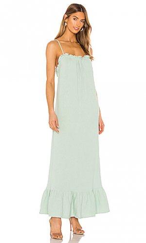 Макси платье waylynn FLYNN SKYE. Цвет: серовато-зеленый