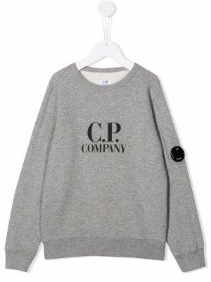 Logo print sweatshirt C.P. Company Kids. Цвет: серый