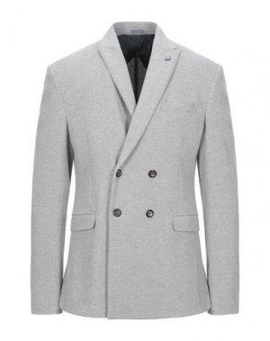 Пиджак ALESSANDRO GILLES. Цвет: светло-серый