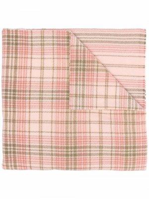 Tartan logo scarf Acne Studios. Цвет: розовый