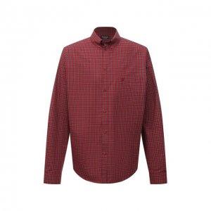 Хлопковая рубашка Balenciaga. Цвет: красный