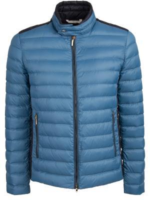 Стеганая куртка BILANCIONI. Цвет: синий