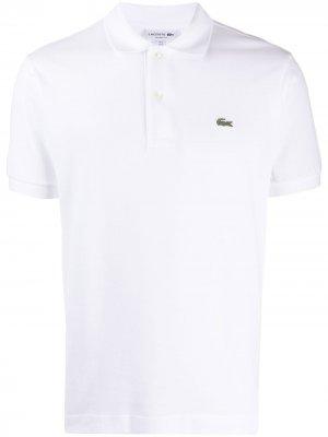 Рубашка-поло с вышитым логотипом Lacoste. Цвет: белый