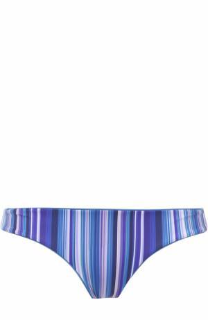 Плавки-бикини в полоску La Perla. Цвет: голубой