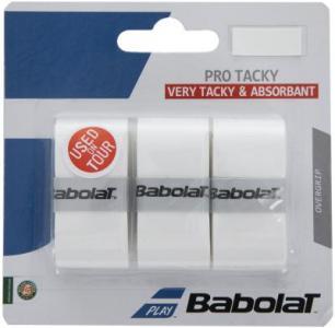 Намотка верхняя Pro Tacky x 3 Babolat. Цвет: белый